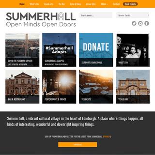 Summerhall - Open Minds Open Doors, Edinburgh