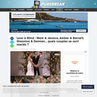 Love is Blind - Mark & Jessica, Amber & Barnett, Giannina & Damian... quels couples se sont mariés - - Purebreak