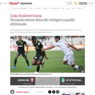ArchiveBay.com - www.clarin.com/deportes/huracan-vs-atletico-nacional-hora-formaciones-verlo-vivo_0_wAcCav1L.html - Huracán estuvo lejos del milagro y quedó eliminado - Clarín