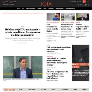 JOTA – Jornalismo e tecnologia para tomadores de decisão