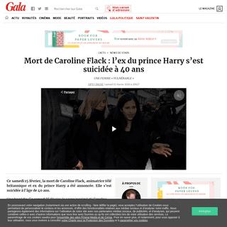 Mort de Caroline Flack- l'ex du prince Harry s'est suicidée à 40 ans - Gala
