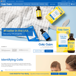 Colic Calm - Naturally Active Remedy for Colic, Gas and Reflux - Colic Calm