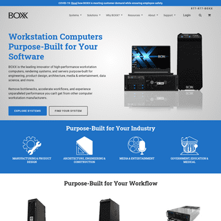 High Performance Workstation Computers - BOXX Technologies