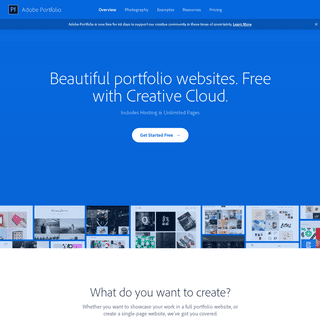 Adobe Portfolio - Build your own personalized website
