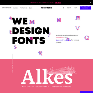 Fontfabric™ — We design fonts