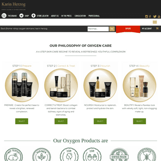 Shop Oxygen Skincare - Karin Herzog