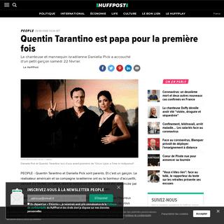 Quentin Tarantino est papa pour la première fois - Le Huffington Post