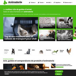Animalerie-Boutique 🐶 - Les meilleurs produits - Guides, tests & avis