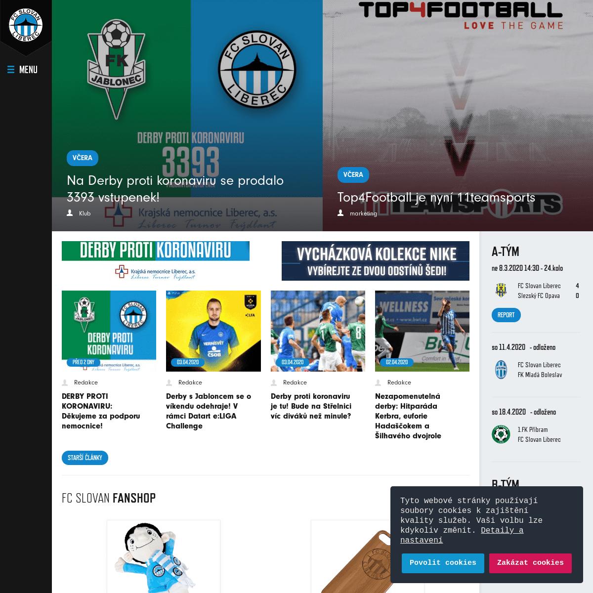 FC Slovan Liberec - oficiální internetové stránky