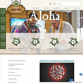 Maui County, HI - Official Website - Official Website