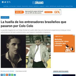 ArchiveBay.com - www.eldinamo.cl/deportes/2020/02/29/la-huella-de-los-entrenadores-brasilenos-que-pasaron-por-colo-colo/ - La huella de los entrenadores brasileños que pasaron por Colo Colo - El Dínamo