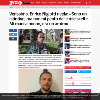 Verissimo, Enrico Nigiotti rivela- «Sono un istintivo, ma non mi pento delle mie scelte. Mi manca nonno, era un amico»