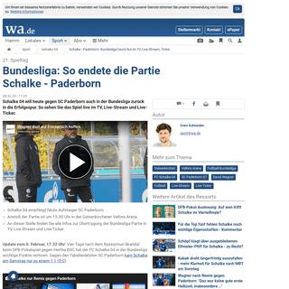 Schalke - Paderborn- Bundesliga heutelive im TV, Live-Stream, Ticker - Schalke 04