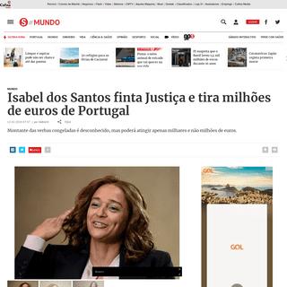 Isabel dos Santos finta Justiça e tira milhões de euros de Portugal - Mundo - SÁBADO