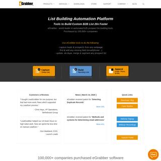 ArchiveBay.com - egrabber.com - eGrabber - Automated List Building, Business Lead Generation, Email List Completion, Data Capture software for B2B Sales & Recru