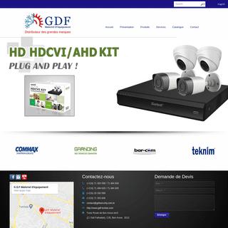 GDF Sécurité - Distributeur des grandes marques
