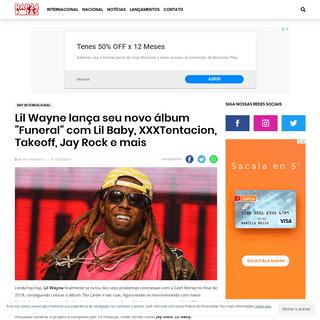 Lil Wayne lança seu novo álbum -Funeral- com Lil Baby, XXXTentacion, Takeoff, Jay Rock e mais - Rap 24 Horas