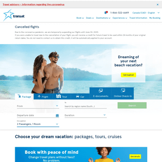 All inclusive vacation packages, direct flights - Transat