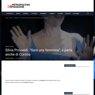 Silvia Provvedi aspetta una femmina e su Corona dice