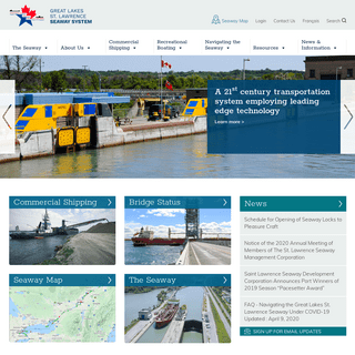 Home - Great Lakes St. Lawrence Seaway System