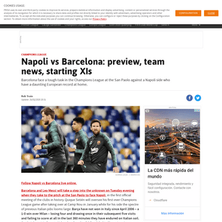 Napoli vs Barcelona- preview, team news, starting XIs - AS.com