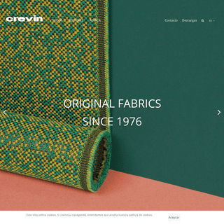 Crevin - Upholstery fabrics since 1976