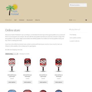 Pacific Pickleball – Pickleball paddles online store