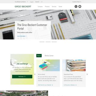 Groz-Beckert Homepage