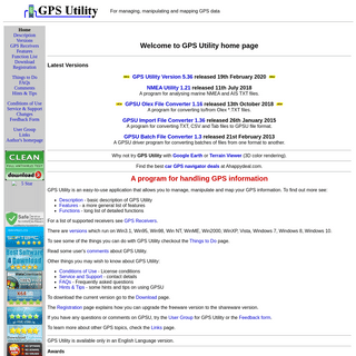 GPS Utility - Home