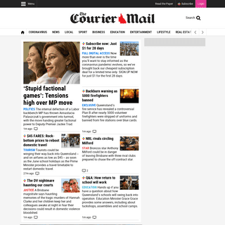The Courier Mail - Breaking News Headlines for Brisbane and Queensland - Courier Mail