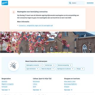 Homepagina - Stad Gent