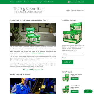 Battery Recycling - BigGreenBox – The Big Green Box