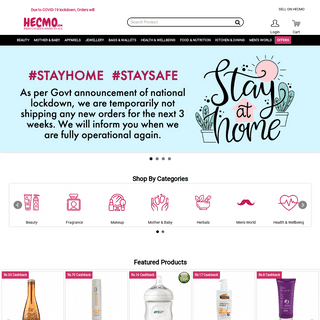 ArchiveBay.com - hecmo.com - Online Shopping in India – Shop Beauty, Makeup, Wellbeing, Mother Care & Many More Products at Hecmo.com