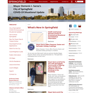 City of Springfield homepage