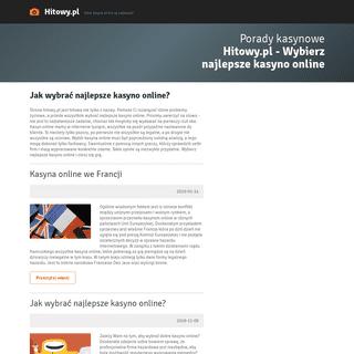Hitowy.pl - Wybierz najlepsze kasyno online