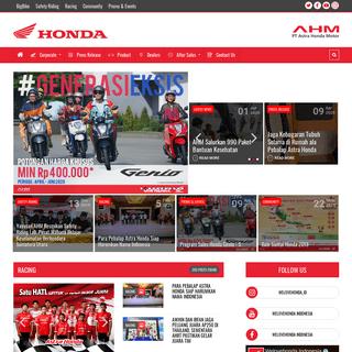 Sepeda Motor Honda Terbaru - PT Astra Honda Motor