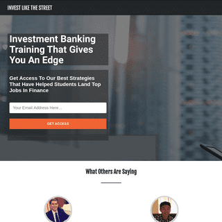Invest Like The Street- Real-World Wall St & Investment Banking Training