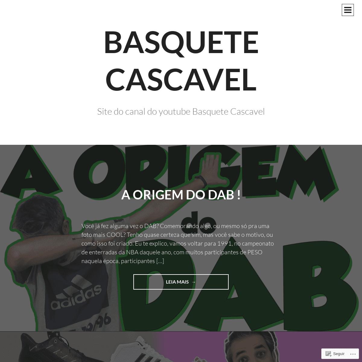 Basquete Cascavel - Site do canal do youtube Basquete Cascavel