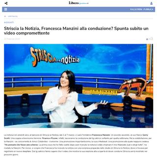 Striscia la Notizia, Francesca Manzini alla conduzione- Spunta subito un video compromettente - Libero Quotidiano