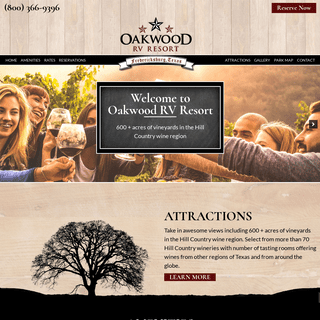 Oakwood RV Resort - Fredericksburg RV Resort - TX 78624