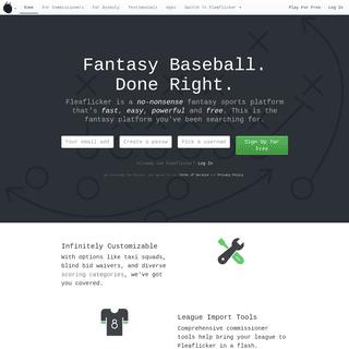 Free Fantasy Baseball Leagues - Fleaflicker
