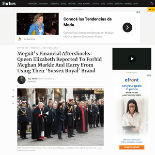 Megxit's Financial Aftershocks- Queen Elizabeth Reported To Forbid Meghan Markle And Harry From Using Their 'Sussex Royal'