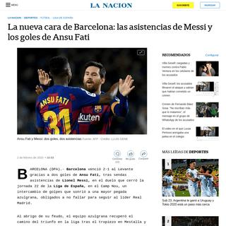 La nueva cara de Barcelona- las asistencias de Messi y los goles de Ansu Fati - LA NACION