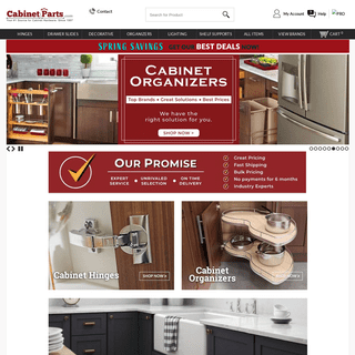 CabinetParts.com - Quality Cabinet Hardware, Slides, Laminates, Hinges, and More... - CabinetParts.com
