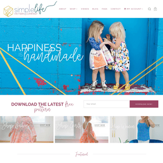 The Simple Life Company - Pdf Sewing patterns for babies + girls