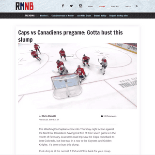 ArchiveBay.com - russianmachineneverbreaks.com/2020/02/20/caps-vs-canadiens-pregame-gotta-bust-this-slump/ - Caps vs Canadiens pregame- Gotta bust this slump