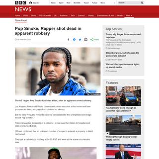 ArchiveBay.com - www.bbc.com/news/newsbeat-51563795 - Pop Smoke- Rapper shot dead in apparent robbery - BBC News