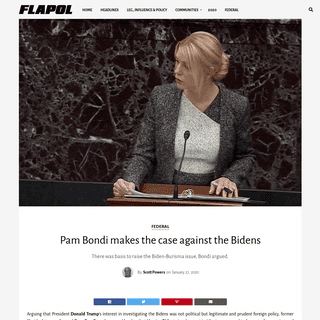 Pam Bondi makes the case against the Bidens