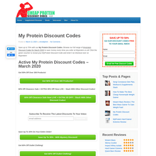 My Protein Discount Codes (March 2020) - Save 70- Now
