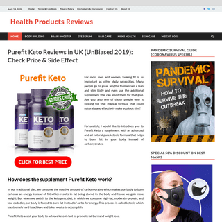 Purefit Keto Reviews in UK (UnBiased 2019)- Check Price & Side Effect